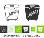bread maker black linear and... | Shutterstock .eps vector #1170806452