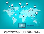 dropshipping. drop shipping... | Shutterstock .eps vector #1170807682