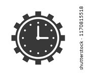clock and gear  time management ... | Shutterstock .eps vector #1170815518