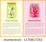 preserved fruit and vegetables... | Shutterstock .eps vector #1170817252