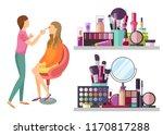 visage makeup visagiste... | Shutterstock .eps vector #1170817288