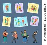 skillful photographers ... | Shutterstock .eps vector #1170818635