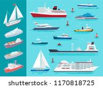 water transport ships traveling ... | Shutterstock .eps vector #1170818725