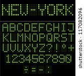 green led vector alphabet and... | Shutterstock .eps vector #117082096