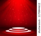 red stage podium spotlight... | Shutterstock .eps vector #1170844612