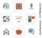 modern flat icons set of... | Shutterstock .eps vector #1170846412