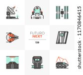 modern flat icons set of space... | Shutterstock .eps vector #1170846415