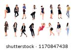 collection of people performing ... | Shutterstock .eps vector #1170847438