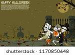 skull children are traveling... | Shutterstock .eps vector #1170850648