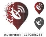 antenna marker icon in... | Shutterstock .eps vector #1170856255