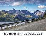 norway mountains and uphill... | Shutterstock . vector #1170861205
