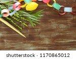 jewish festival of sukkot.... | Shutterstock . vector #1170865012