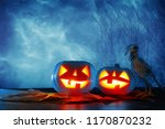 halloween holiday concept.... | Shutterstock . vector #1170870232