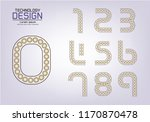 number set of numbers logo or... | Shutterstock .eps vector #1170870478