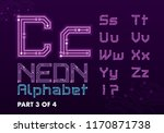 digital circuit neon alphabet | Shutterstock .eps vector #1170871738