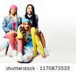 diverse nation girls group ... | Shutterstock . vector #1170873535