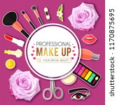 make up paper art background.... | Shutterstock .eps vector #1170875695