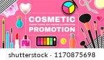 make up paper art background.... | Shutterstock .eps vector #1170875698