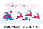 merry christmas and happy new... | Shutterstock .eps vector #1170875758