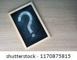 a question mark on a black... | Shutterstock . vector #1170875815
