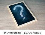 a question mark on a black... | Shutterstock . vector #1170875818