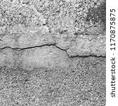 crack concrete brick wall... | Shutterstock . vector #1170875875