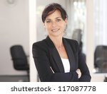 attractive businesswoman with... | Shutterstock . vector #117087778
