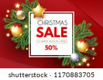 christmas sale banner. holiday... | Shutterstock .eps vector #1170883705