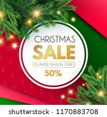 christmas sale banner. holiday... | Shutterstock .eps vector #1170883708