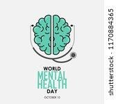 world mental health day... | Shutterstock .eps vector #1170884365
