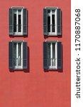 vintage window. classic italian ... | Shutterstock . vector #1170887068