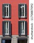 vintage window. classic italian ... | Shutterstock . vector #1170887092