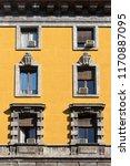 vintage window. classic italian ... | Shutterstock . vector #1170887095