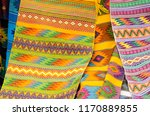 mexican traditional textiles | Shutterstock . vector #1170889855