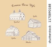 collection of common barn style ... | Shutterstock .eps vector #1170890188