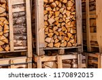 firewood for sale. packages... | Shutterstock . vector #1170892015