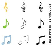 vector set of music notes... | Shutterstock .eps vector #1170893785