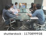 group of business people in... | Shutterstock . vector #1170899938