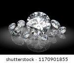 diamond on black background  ...   Shutterstock . vector #1170901855
