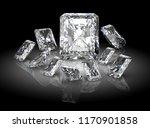 diamond on black background  ...   Shutterstock . vector #1170901858