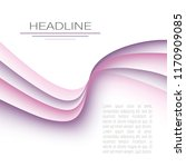 layout with purple  pink waving ...   Shutterstock .eps vector #1170909085