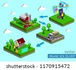 organic market concept. vector... | Shutterstock .eps vector #1170915472