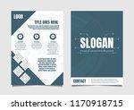 vector flyer template with... | Shutterstock .eps vector #1170918715