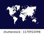 world map vector. vector...   Shutterstock .eps vector #1170922498