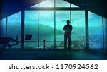 men in the huge office in front ... | Shutterstock . vector #1170924562