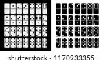 black and white domino full set ... | Shutterstock . vector #1170933355
