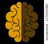 abstract brain with binary... | Shutterstock . vector #1170933382