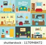 interior banner set. flat... | Shutterstock .eps vector #1170948472