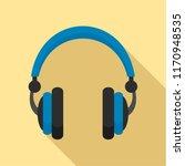 retro headphones icon. flat... | Shutterstock .eps vector #1170948535