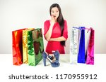 beautiful shocked brunette mad... | Shutterstock . vector #1170955912